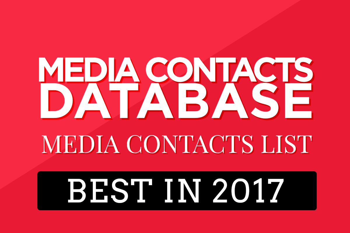 Best Media Contacts Database 2017