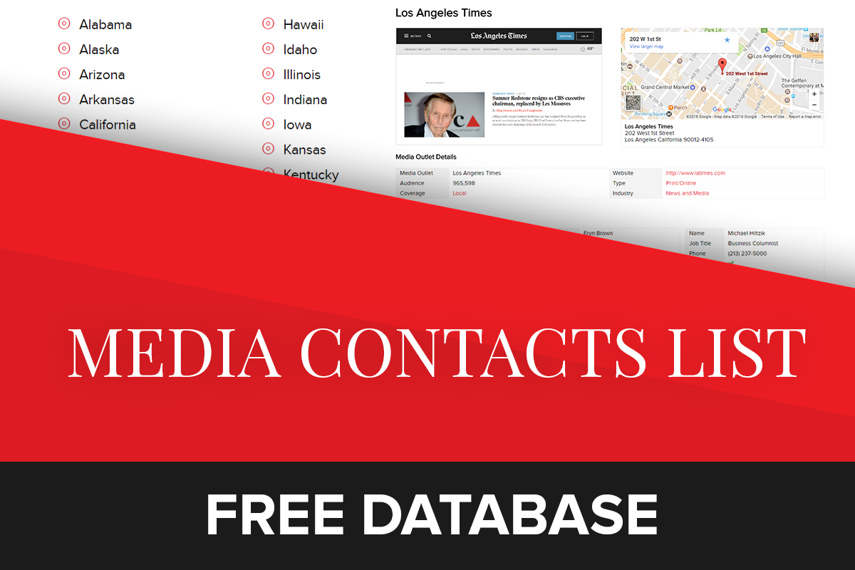Free Media Contact Database