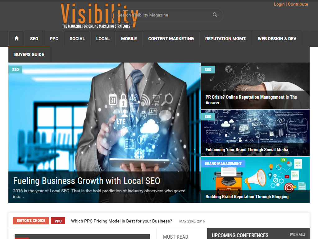 Visibility Magazine Media Contacts