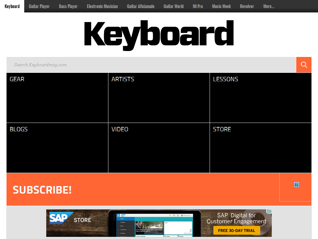 Keyboard Magazine Media Contacts